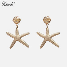 Ztech Fashion Statement Earrings 2019 Big Geometric earrings For Women Hanging Dangle Drop modern Jewelry