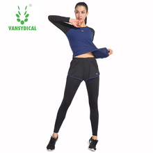 Two piece set Women Sporting Fitness Suits Workout Clothes Quick drying crop top suit women