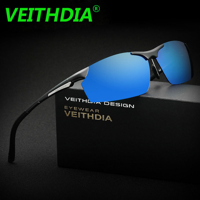 772e89b4bd VEITHDIA Brand Aluminum Magnesium Sunglasses Polarized Men Coating Mirror  Driving Sun Glasses oculos Male Eyewear Frame 150 mm