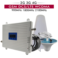 2G 3G 4G Tri Band Signal Booster GSM 900+DCS/LTE 1800+UMTS/WCDMA 2100 Cell Phone Repeater 4G LTE 1800mhz Mobile Signal Amplifier