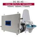 2G 3G 4G Tri banda amplificador de señal GSM 900 +/DCS/LTE 1800 + UMTS/ WCDMA 2100 teléfono celular repetidor 900 1800 2100 amplificador de señal