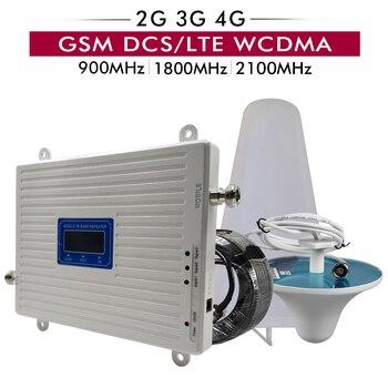 2G 3g 4G трехполосный сигнальный Усилитель GSM 900 + бустет DCS/LTE 1800 + UMTS/WCDMA 2100 мобильный ретранслятоr 900 1800 2100 мобильный усилитель сигнала >> Mobile Signal Booster Store
