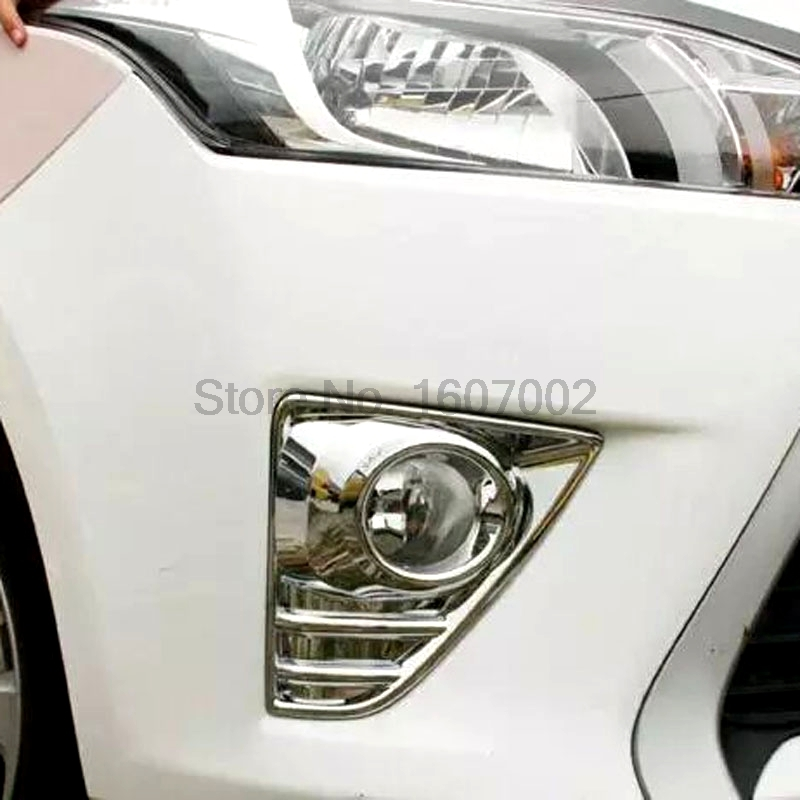 For Toyota Yaris XP150 Hatchback 5dr 2014 2015 Chrome Car Front Foglight Lamp Shade Molding Trim Cover Protectors Accessories