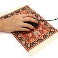 280 x 180mm Vintage Carpet Mouse Pad Rubber Tablet Mat Gaming Computer Mouse Mat Gamer Persian Style Mousepad Decor Gift for PC