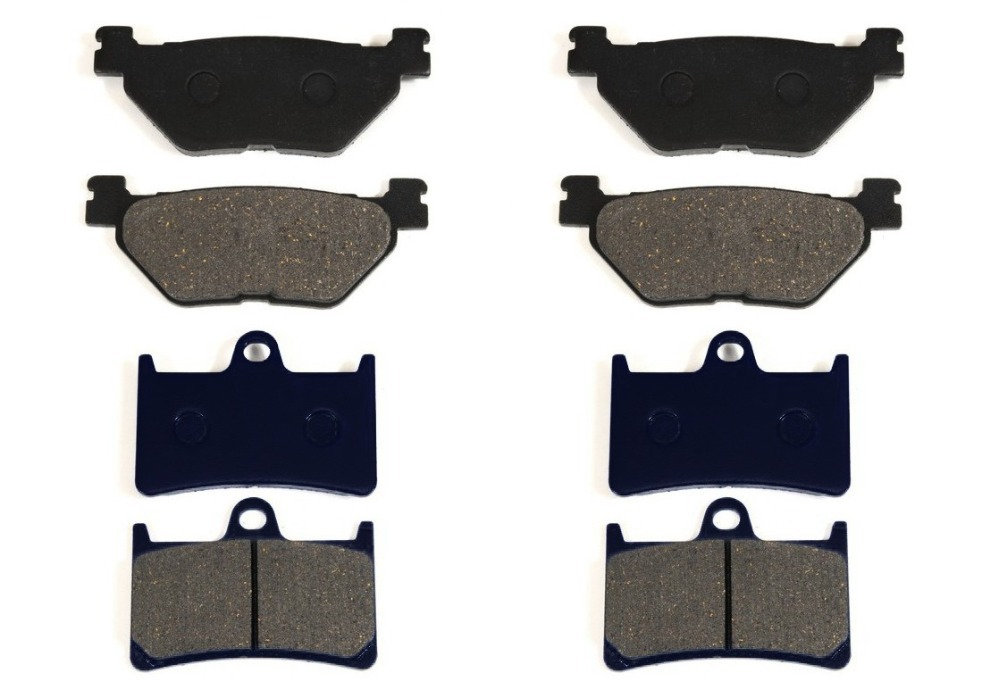 ФОТО 8 Pcs BRAKE PADS Fits YAMAHA XV1700 ROAD STAR WARRIOR XV1900 XV17 free shipping