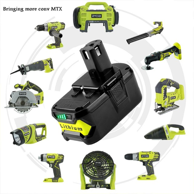 18V 5000mAh Li Ion battery For Ryobi P108 P107 P106 P105 P104 P103 P102  Power Tool Battery + high quality -in Rechargeable Batteries from Consumer