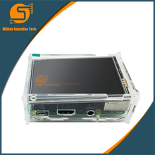 Sale 3.5 inch display 3.5″ LCD TFT Touch Screen Display for Raspberry Pi 2 /3/B+ Acrylic Case