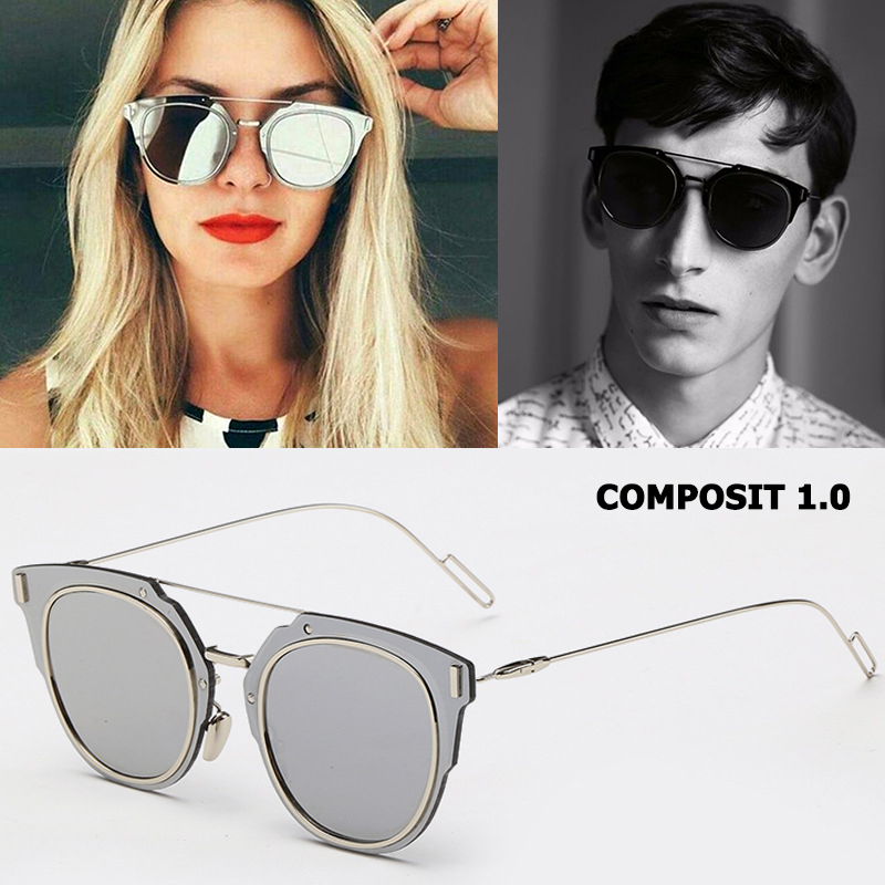 JackJad Fashion COMPOSIT 1.0 Metal Alloy POLARIZED Sunglasses Cool Brand Design Cat Eye Style Sun Glasses Oculos De Sol Gafas çerçevesiz güneş gözlük modelleri bayan