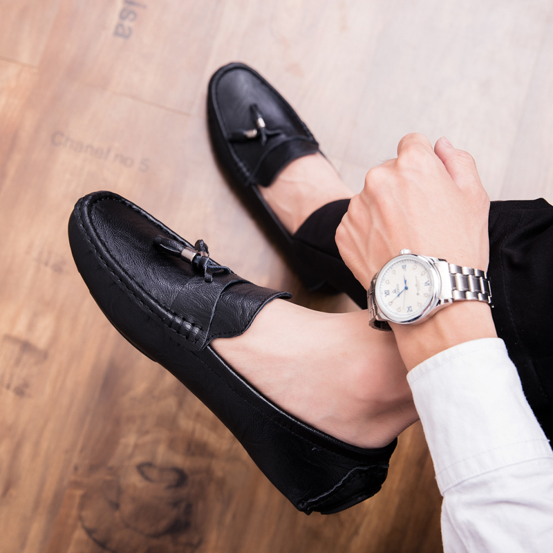 Men Loafers Shoes outdoor Italy Oxfords Business Dress Boat Shoes Formal Oxford Men Flat Shoes Wedding party shoes p4 28
