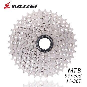 WUZEI 9 S 18S 27S سرعة 11-36T عجلات مجانية دراجة جبلية دولاب الموازنة 9 سرعات كاسيت دولاب الموازنة 11-36T متوافق مع أجزاء M370 M4000