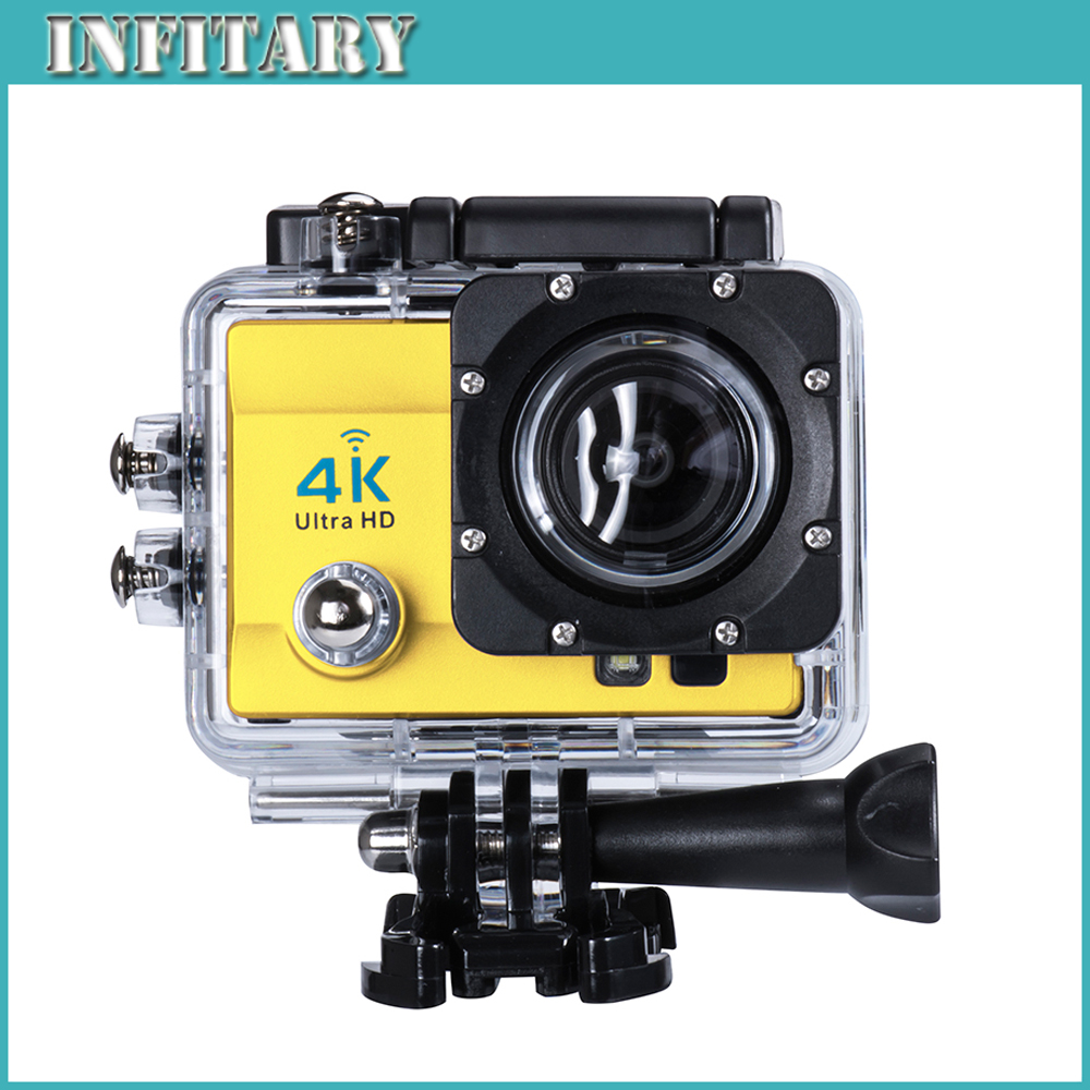 2016 Action Camera 4K Ultra HD WIFI Sport Camera 2.0 Inch 16MP 170 Wide Angle Lens 30M Waterproof Sports dv Cam