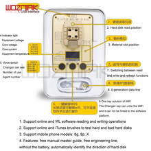 WL PCIE 64Bit מתכנת עבור Iphone 5 6 6s 6sp 7g 7p 8 8P X 11 NAND קשה דיסק לקרוא לכתוב מבחן מתלה סידורי מספר SN עבור iPhone