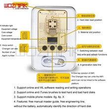 Wl pcie 64bit programador para iphone 5 6s 6sp 7g 7p 8 8p x 11 nand ler escrever teste rack número de série sn para iphone