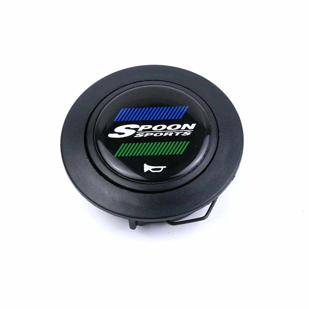 New Spoon Sport Steering Wheel Horn Button Racing Horn Switch Push Cover