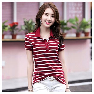 new-2018-Summer-Striped-T-Shirts-Button-V-Neck-Short-Sleeve-Womens-Clothing-Cotton-T-Shirt.jpg_640x640