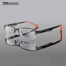 Montura de gafas de metal TR90 para hombre y mujer, lentes de montura óptica para miopía, a la moda, 2019