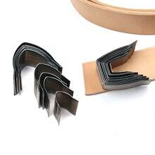 10 teile/los DIY leder handwerk gürtel ende flache sharp ende gestanzte form messer Uhr Gürtel Stanzen Hand Werkzeuge geformt cutter