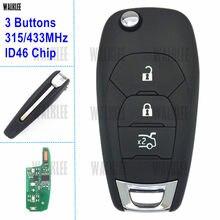 WALKLEE дистанционный Автомобильный ключ подходит для Chevrolet Aveo Cruze Malibu ID46 чип 315 МГц или 433 МГц с ID46