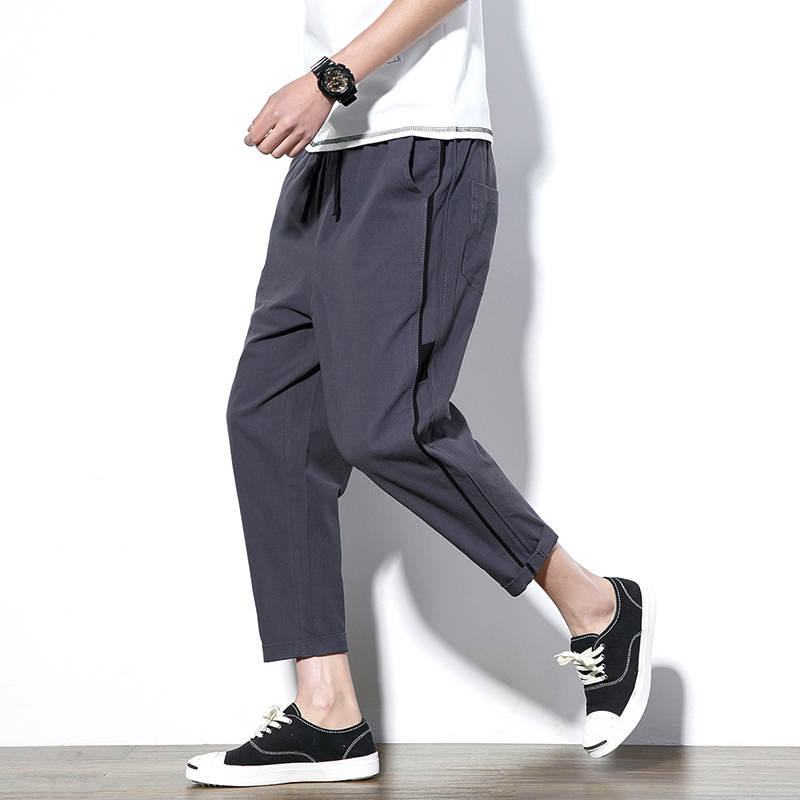 Harem-Pants Grey-Trousers Loose Men's Summer Casual for Hombre Jogger Size-5xl
