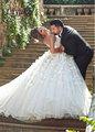 2017 luxury Sweetheart Neckline Appliqued Flowers  bride dress of wedding dress