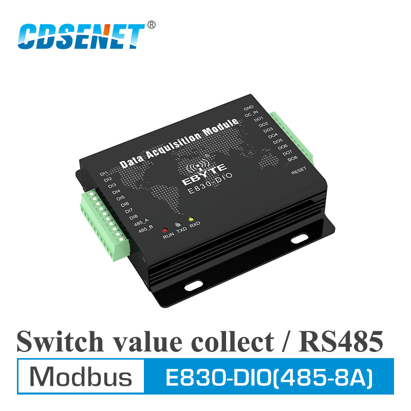 E830 DIO 485 8A RS485 Modbus RTU Switch Value Acquistion 8 Channel Digital Signal Collection Serial