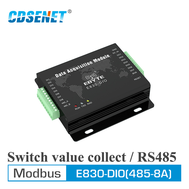 E830 DIO (485 8A) RS485 Modbus RTU Schalter Wert Acquistion 8 Kanal Digital Signal Sammlung Seriellen Port Server