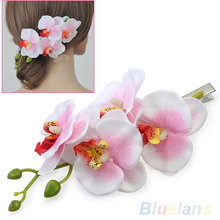 Hot Fashion Women's Multicolored Hair Flower Clip Bridal Hawaii Party Hair Accessories