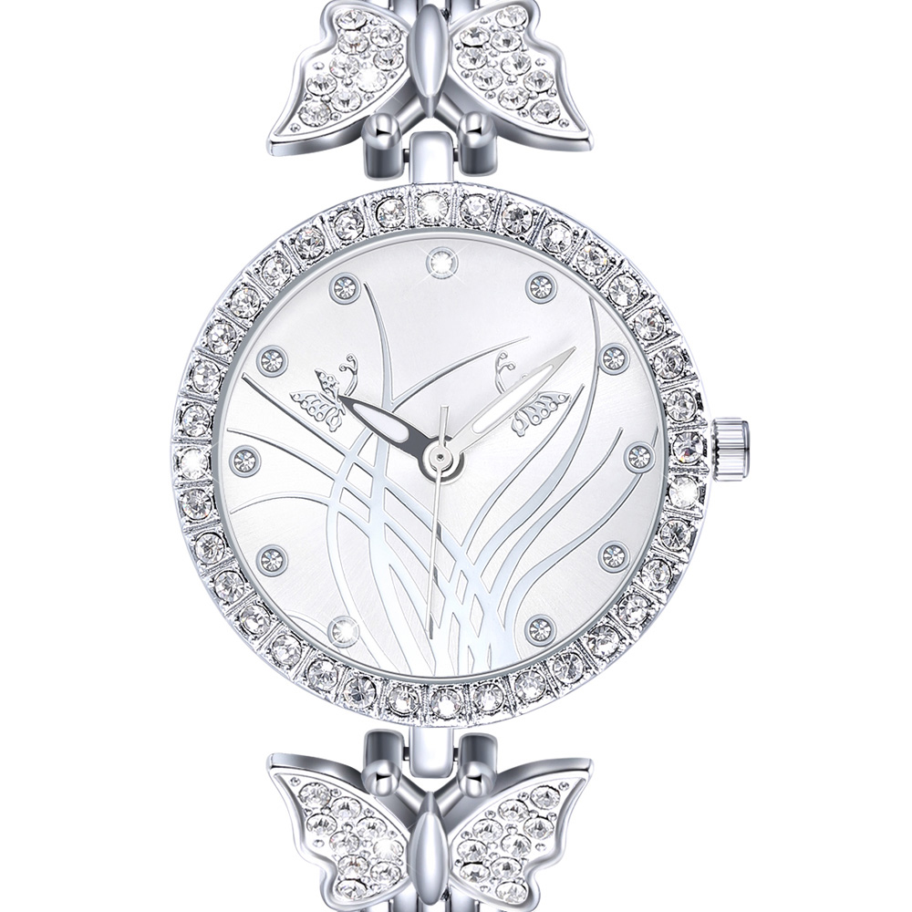 New arrival Elegant ladies Wrist Watch Pretty Butterfly Design Timepiece for Women Top Quality Crystal Case free shipping 1