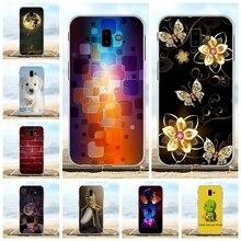 For Samsung Galaxy J6 Prime Cover Soft TPU Plus J610FN J610G Case Cartoon Pattern Capa
