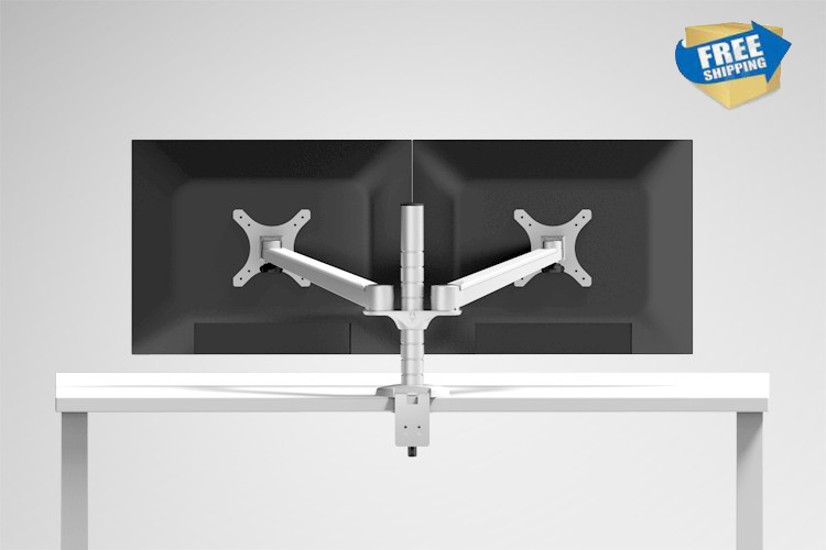 Free Shipping OA 4 Aluminum Alloy Dual Monitor Holder Full Motion Monitor Mount Arm Stand Base
