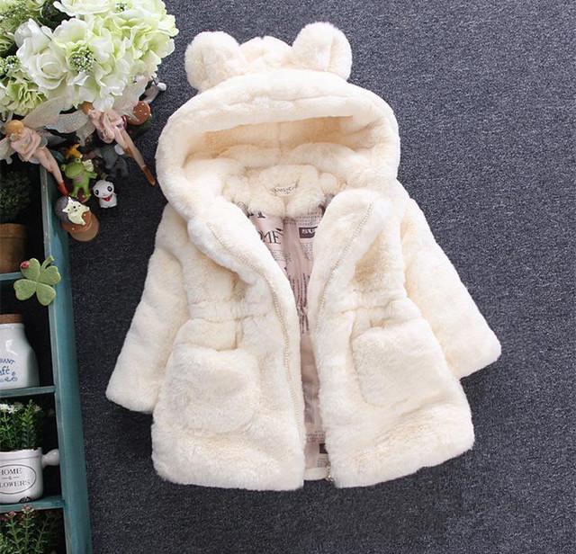 Bebés de invierno Faux Fur Fleece Coat Desfile Fiesta Campera de abrigo 80-150 cm Traje Para La Nieve Del Bebé Abrigo Ropa de Los Niños AF-1669