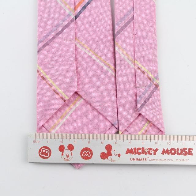 Striped Soft Mens 100% Cotton Necktie Bright Check Artificial Skinny Ties Men business Small Tie Designer Cravat