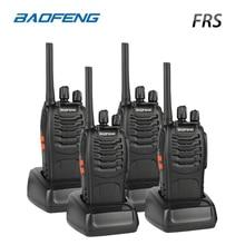 4PCS Baofeng BF-88A FRS Walkie Talkie 0,5W UHF 16 CH 462-467 MHz Handhållen skink Tvåvägs Radio Upgrade Version av BF-888s För USA