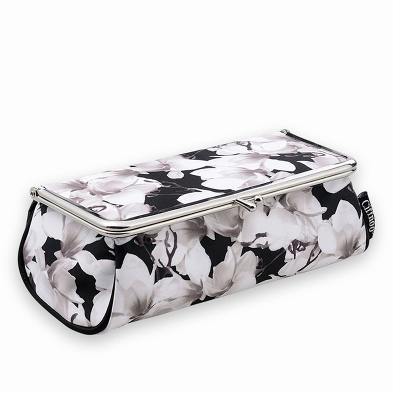 Brand New Chinese style Women Makeup Bag With Mirror Portable Lipstick Cosmetic Box Makeup Organizer Toolbox Brush Storage bag bob cosmetic makeup powder w puff mirror ivory white 02