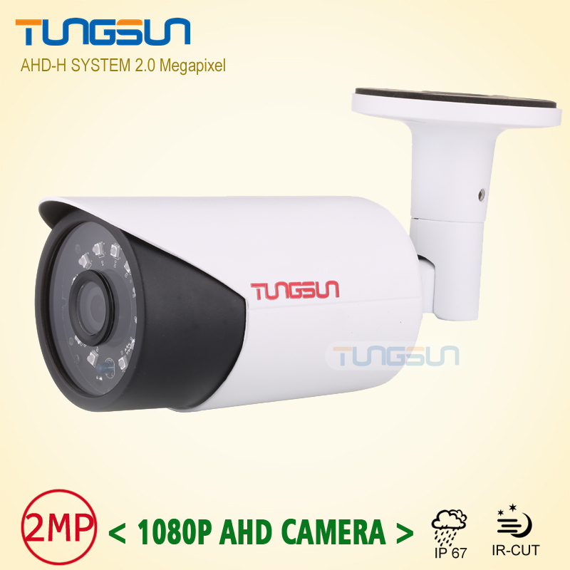 New 2MP HD Full 1080P AHD Camera Security CCTV White Metal Bullet Video Surveillance Outdoor Waterproof infrared Night Vision wistino cctv camera metal housing outdoor use waterproof bullet casing for ip camera hot sale white color cover case