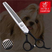 Fenice 6.75 inch Professional Dogs Thinning Scissors  Pets Shears Rate 35% Japan 440C Stainless Steel