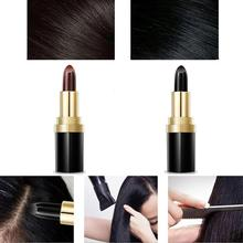 Temporary Cosmetic Cover Your Grey White Hair Touch Up Hair Color Lipstick Dropshipping