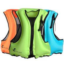 New Life Jacket Inflatable Snorkeling Vest Zip Adult Swimming Fishing Jacket 2015 new winmax summer swimming life vest children s inflatable swimming vest bathing suit swimming jacket