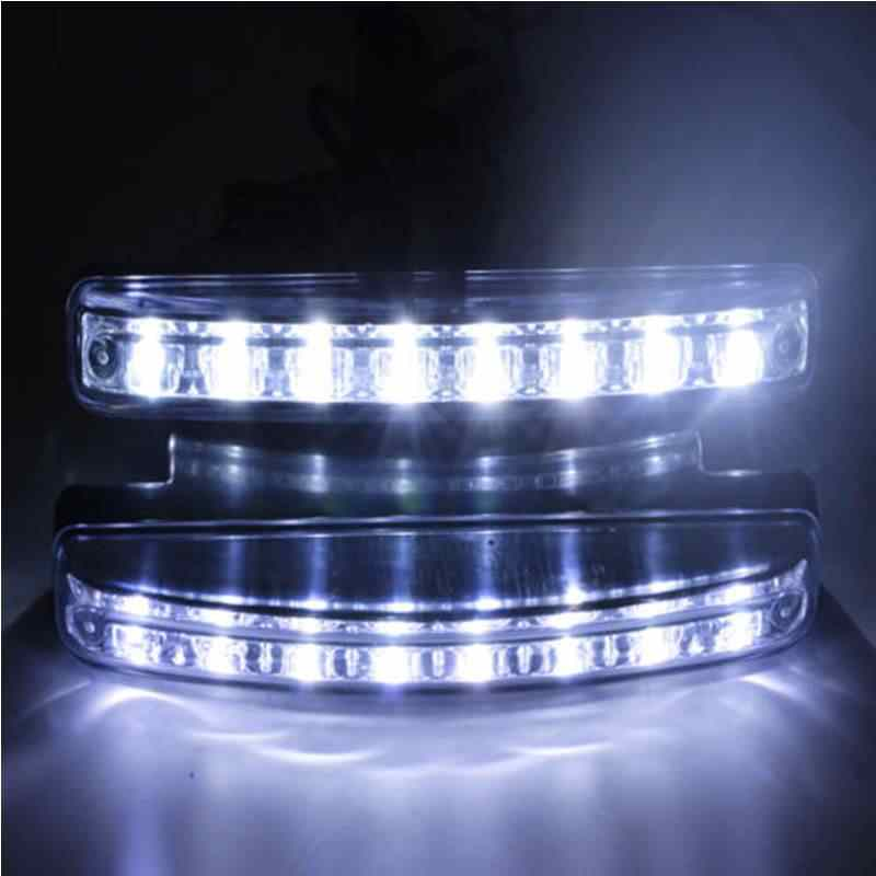 Car Daylight Bulb Head Lamp 1pcs styling 8 LED Super Bright Car DRL Daytime Running Light White Useful High Quality universal