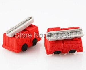 Freeshipping  lovely wholesale transport eraser/ fire engine eraser/bulldozer eraser/truck eraser MOQ 60 pieces per lot