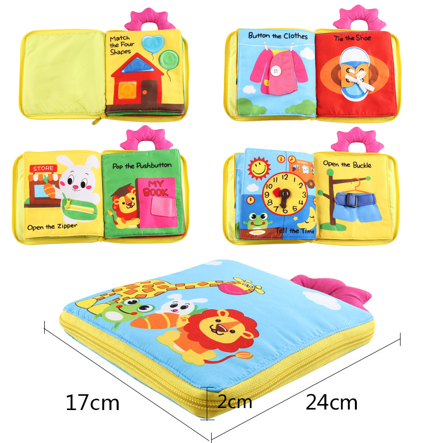 Baby Cloth Books Soft Cloth Boys Girls Books Educational Kids Early Development Cloth Books Early Learning Activity Book Ds19
