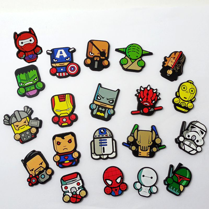 Children Boys Favor Party Gift Heroes PVC Flatback Charms DIY Craft Accessory Fit Cable Winder/Brooch/USB Charger/Card Holder