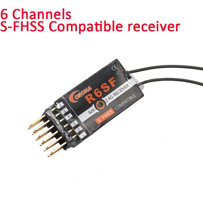 Corona R6SF 2,4 ghz S-FHSS/FHSS Kompatibel 6Ch Micro S. bus Empfänger