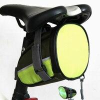 Sacos de bicicleta Saco de Cauda Bicicleta LED Traseira da Segurança Ciclismo LED de Aviso Signal Light & Controle Remoto sem fio para Andar de Noite 2018 nova