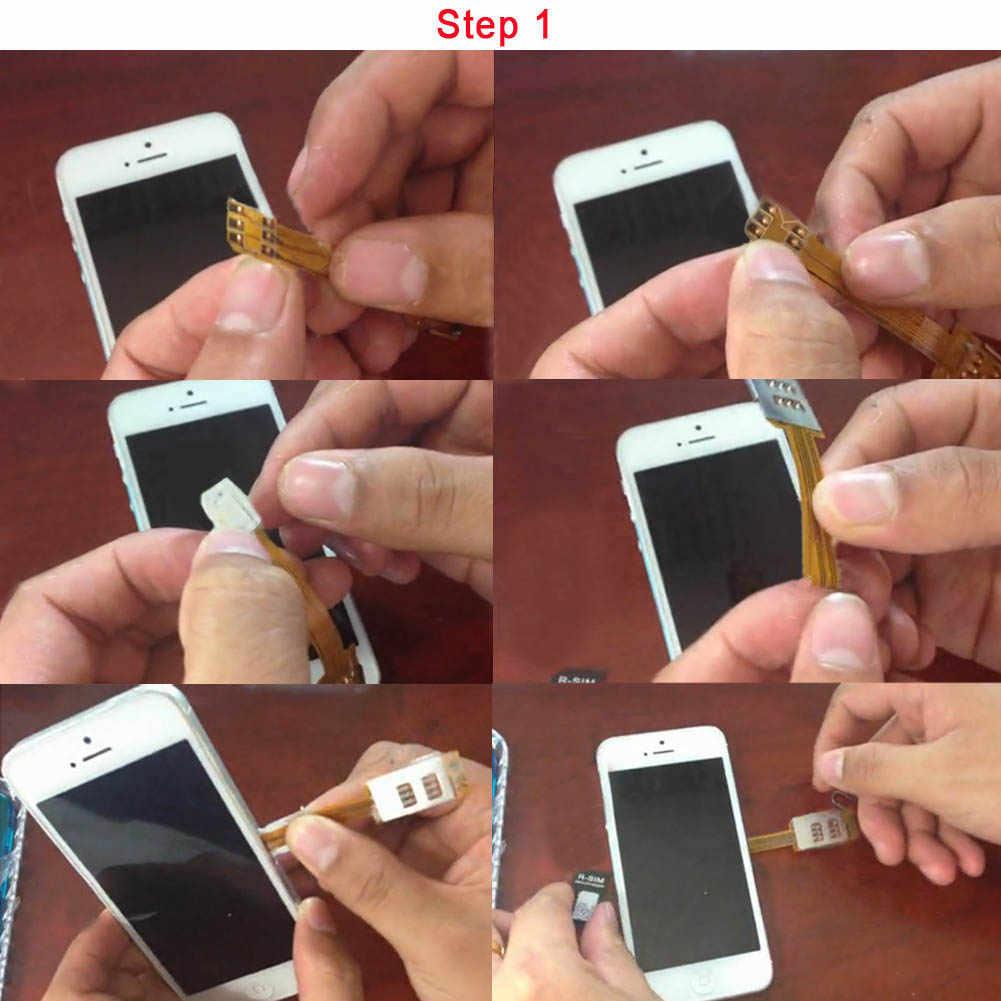 Gran oferta de ranura para tarjeta SIM Adaptador de Dual para iPhone 5/4S/4 Micro adaptador de tarjeta SIM compatible con GSM y tarjeta 3G-USIM