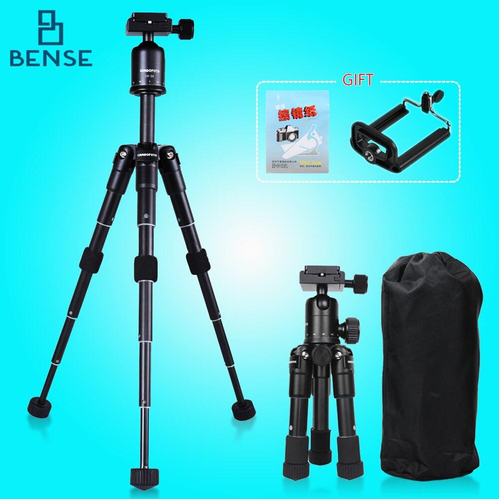 ФОТО Black Aluminum alloy Tripod Compact Desktop Macro Mini Tripod Kit with Ball Head for canon nikon sony SLR cameras