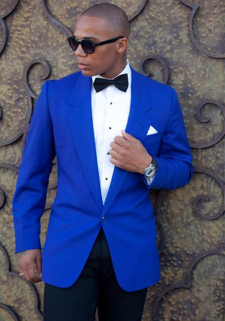 High Quality Royal Blue Mens Suits Groom Tuxedos Groomsmen Wedding