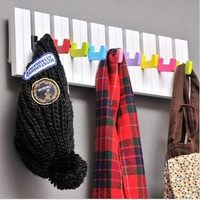 Free Shipping Wooden 9 Key 50CM Piano Board Design Wall Hook Modern Wall Hanger Coat Hat