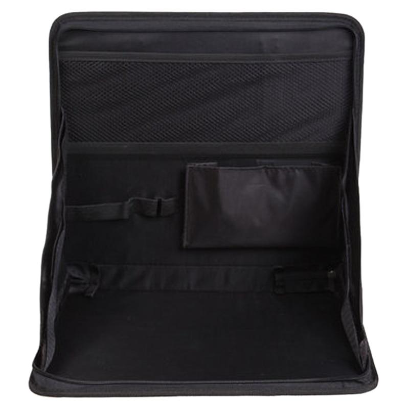 Folding Car Seat Back Storage Tidy Travel Organizer DVD Laptop Holder Tray Hold Black