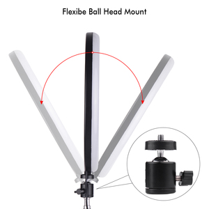 Image 3 - 180PCS 30 cm/11.8in LED וידאו טבעת אור למלא תמונה מנורת 24W Dimmable 2700  5500K 11 רמות עם Smartphone מחזיק עבור טלפון
